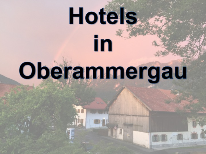 Hotels in Oberammergau
